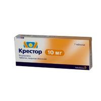 Крестор таблетки 10 мг, 7 шт.