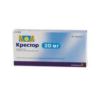 Крестор таблетки 20 мг, 28 шт.