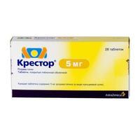 Крестор таблетки 5 мг, 28 шт.