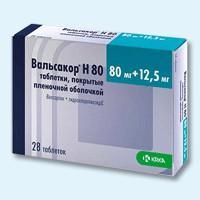 Вальсакор н160 таблетки 160 мг+12,5 мг, 28 шт.
