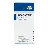 Ксалатан глазные капли 0.005% 2,5 мл 1 шт.