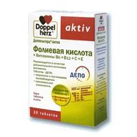 Доппельгерц актив фолиевая кислота+витамины в и с таблетки, 30 шт.