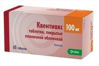 Квентиакс таблетки 100 мг, 60 шт.
