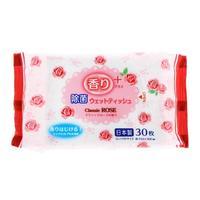 Kyowa Shiko салфетки влажные с ароматом розы 30 шт.