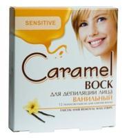 Lady Caramel Воск для эпиляции лица ванильный 12 полосок+2 салфетки