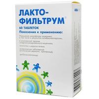 Лактофильтрум таблетки 500 мг, 60 шт.
