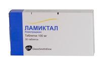 Ламиктал таблетки 100 мг, 30 шт.