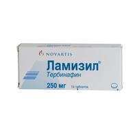 Ламизил таблетки 250 мг, 14 шт.
