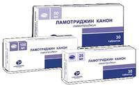 Ламотриджин Канон таблетки 25 мг 30 шт.