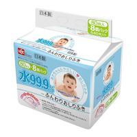 Lec Детские влажные салфетки для лица и рук розовая пачка 8уп х 80шт