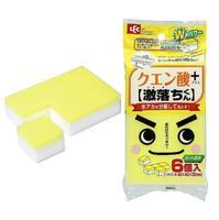 Lec губка меламиновая с лимонной кислотой 40х40х30мм 6 шт