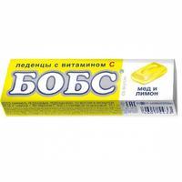 Леденцы Бобс от кашля медово-лимонные , 35 г