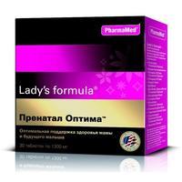 Ледис формула Пренатал Оптима таблетки, 30 шт.