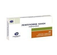 Лефлуномид Канон таблетки покрыт.плен.об. 10 мг 30 шт 30 шт.