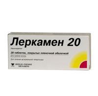 Леркамен 20 таблетки 20 мг, 28 шт.