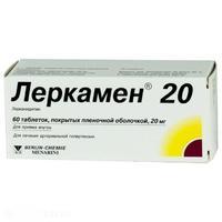 Леркамен 20 таблетки 20 мг, 60 шт.