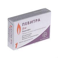 Левитра таблетки покрыт.плен.об. 20 мг, 1 шт.