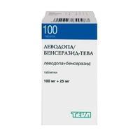 Леводопа/Бенсеразид-Тева таблетки 100+25 мг, 100 шт.