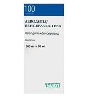 Леводопа/Бенсеразид-Тева таблетки 200+50 мг, 100 шт.