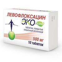 Левофлоксацин Эколевид таблетки покрыт.плен.об. 500 мг 10 шт.
