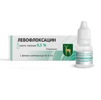 Левофлоксацин капли глазные 0,5 % флакон 5 мл