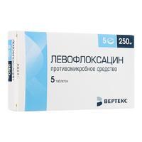 Левофлоксацин таблетки покрыт.плен.об. 250 мг 5 шт.