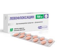 Левофлоксацин таблетки покрыт.плен.об. 750 мг 10 шт.