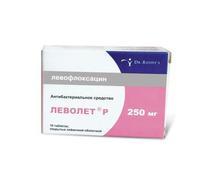 Леволет Р таблетки покрыт.плен.об. 250 мг 10 шт.