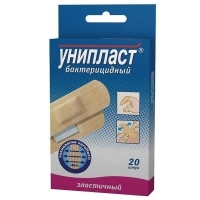 Лейкопластырь Унипласт бактерицидный натуральный 1,9х7,2 см 20 шт