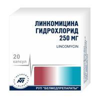 Линкомицин капсулы 250 мг, 20 шт.