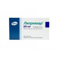 Липримар таблетки 20 мг, 100 шт.