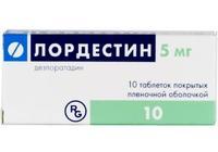 Лордестин таблетки покрыт.плен.об. 5 мг 10 шт.