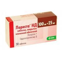 Лориста нд таблетки 100 мг+25 мг, 30 шт.