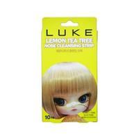 LUKE Очищающие полоски от черных точек с экстрактом лимона и чайного дерева 10шт