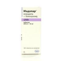 Мадопар таблетки 250 мг, 100 шт.