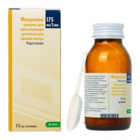 Макропен суспензия 175 мг/5 мл , флаконы 115 мл