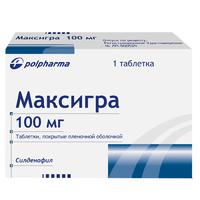 Максигра таблетки покрыт.плен.об. 100 мг 1 шт.
