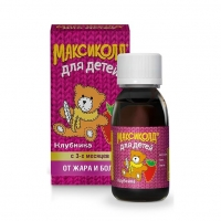 Максиколд для детей суспензия для приема внутрь 100 мг/5 мл клубничная 200 г флакон 1 шт.