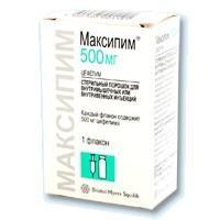 Максипим флаконы 0.5 г