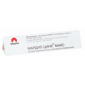 Мардил цинк макс флакон с микрокапиллярами, 1 мл