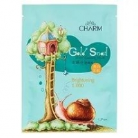 Маска Чарм Голд (Charm Gold) Snail Essence Mask Brightening с секретом улитки Сияние кожи 38г 10шт. упак.