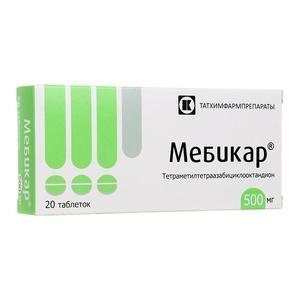 Мебикар таблетки 500 мг 20 шт.