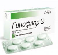 Гинофлор э таблетки вагинальные, 6 шт.