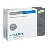 Мегафлокс таблетки покрыт.плен.об. 400 мг 5 шт.