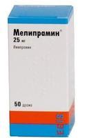Мелипрамин таблетки покрыт.плен.об. 25 мг 50 шт.