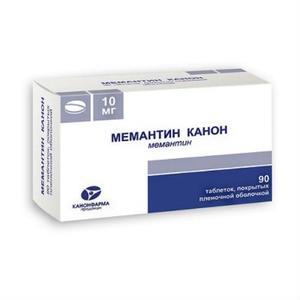 Мемантин канон таблетки 10 мг, 90 шт.