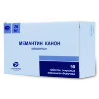 Мемантин Канон таблетки покрыт.плен.об. 20 мг 90 шт.