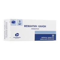Мемантин Канон таблетки покрыт.плен.об. 5 мг 30 шт.