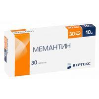 Мемантин таблетки покрыт.плен.об. 10 мг 30 шт.