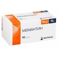 Мемантин таблетки покрыт.плен.об. 10 мг 90 шт.